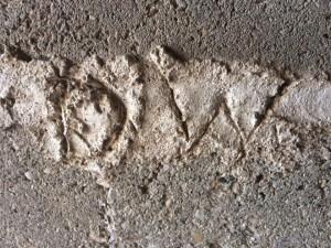 Dad's initials