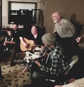 Dorothy, Ray, Steven singing